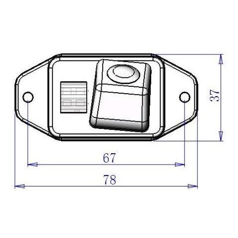 Автомобильная камера заднего вида для Toyota Land Cruiser Prado Превью 4