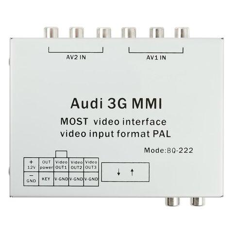 MOST-видеоинтерфейс для Audi MMI 3G+ с адаптером разблокировки видео в движении Превью 1