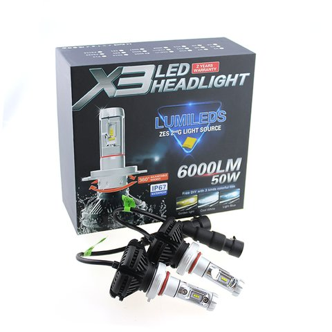 Car LED Headlamp Kit UP-X3HL-9005W(HB3) (6000 lm) Preview 2