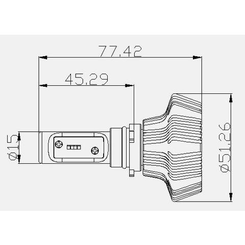 Набір світлодіодного головного світла UP-7HL-PSX26W-4000Lm (PSX26, 4000 лм, холодний білий) Прев'ю 4